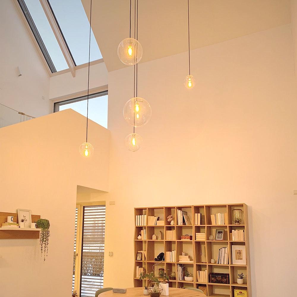 s.LUCE Orb Glaskugel Galerieleuchte 5m Abhängung 1