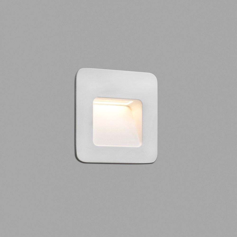 LED Wand-Einbauleuchte NASE-1 3W 3000K IP44 Weiß