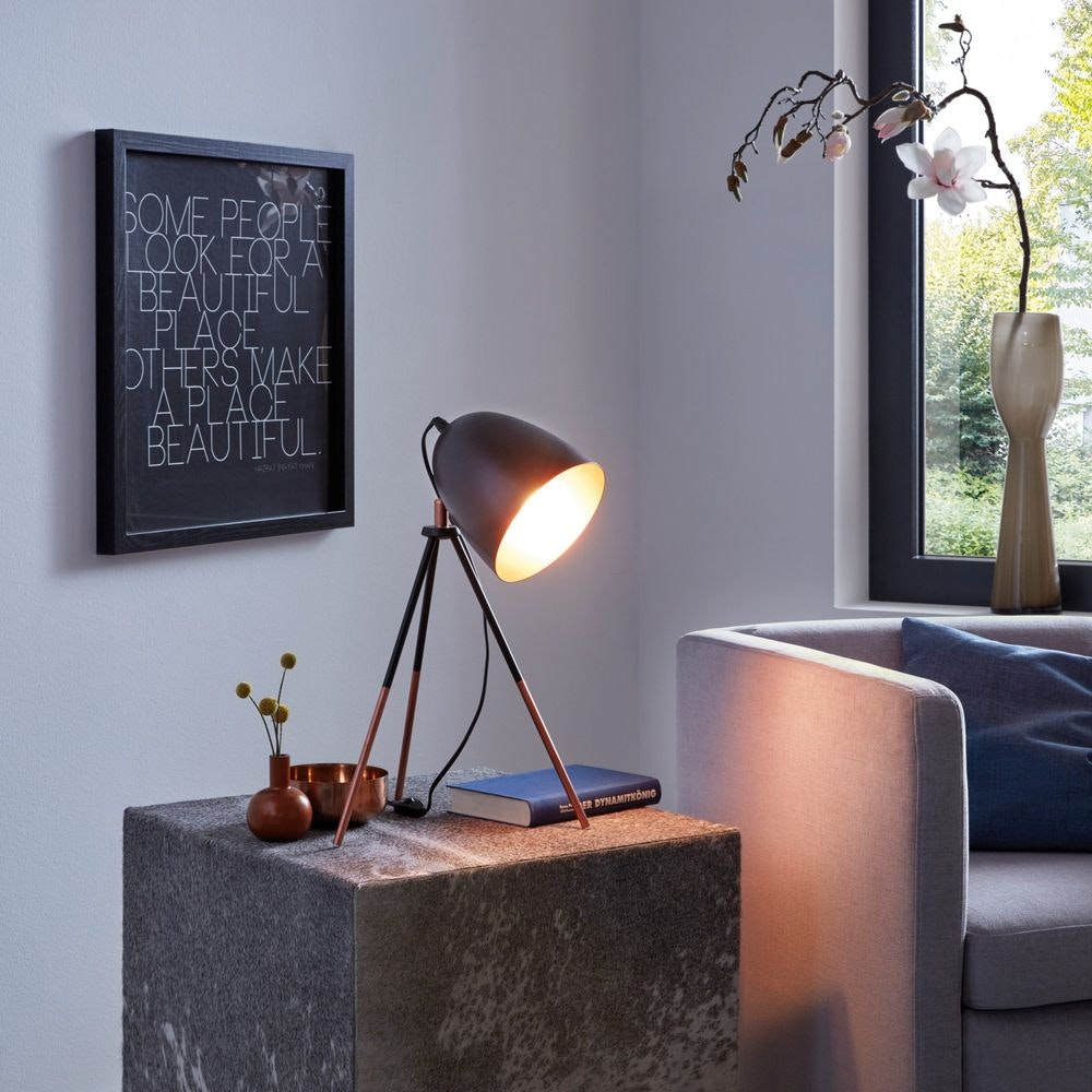 Stake Tischleuchte mit Wow-Effekt Schwarz & Kupfer 3