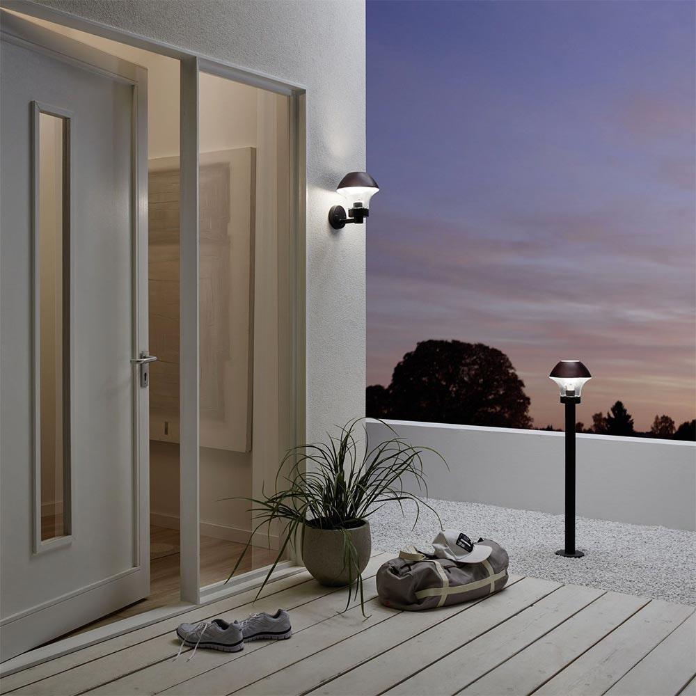 Connect LED Aussen-Wandleuchte Glas 806lm IP44 Warmweiß 2