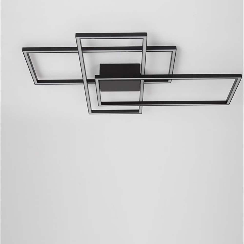 LED-Deckenleuchte Bilbao Matt-Schwarz 1