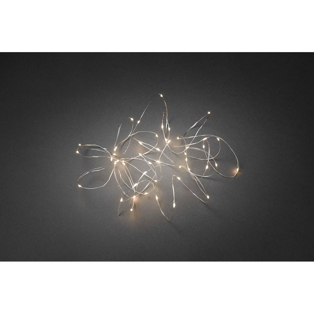 LED Tropfenlichterkette 100 Warmweiße Dioden 4