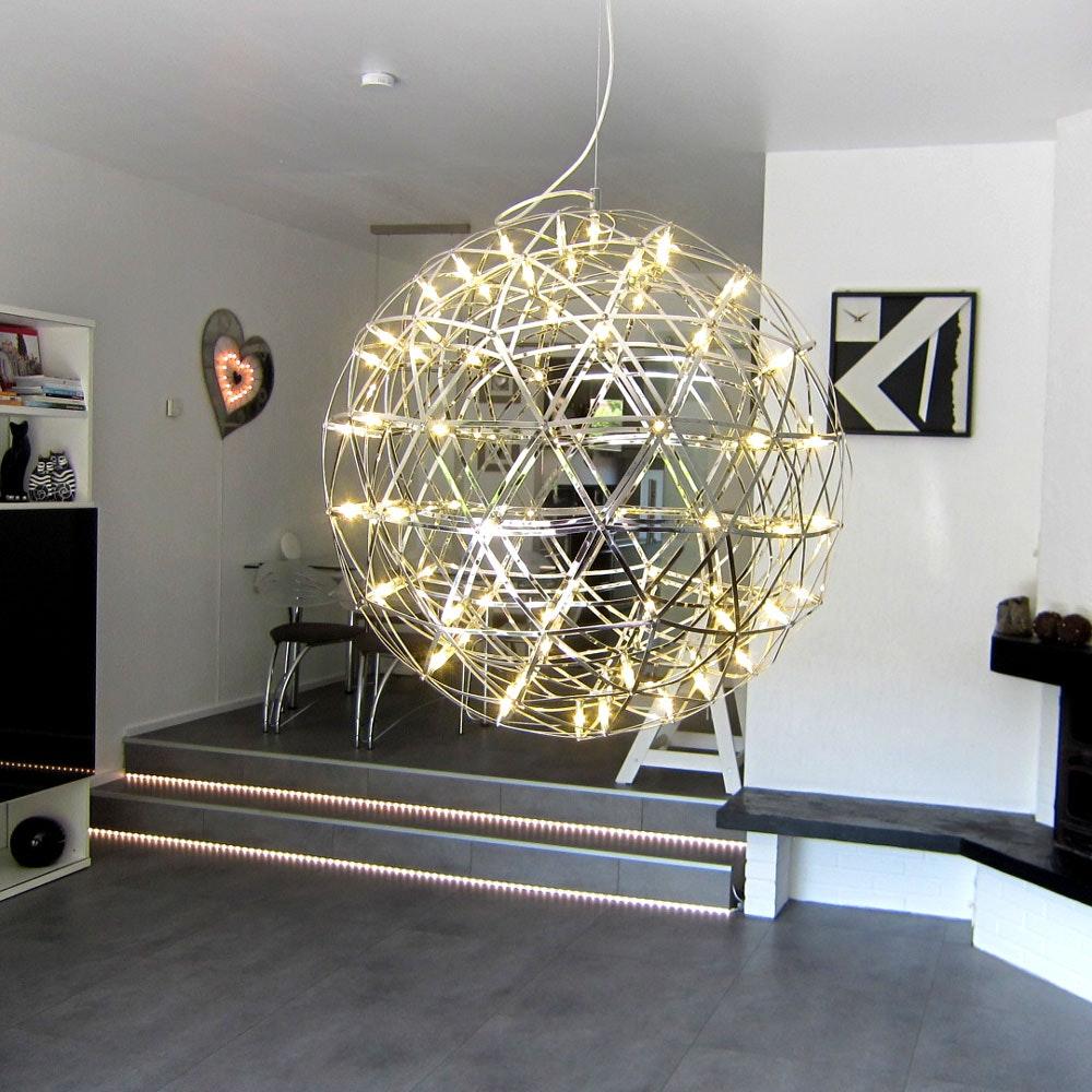 s.LUCE pro Atom 70 dimmbare LED-Pendelleuchte Metallkugel 11