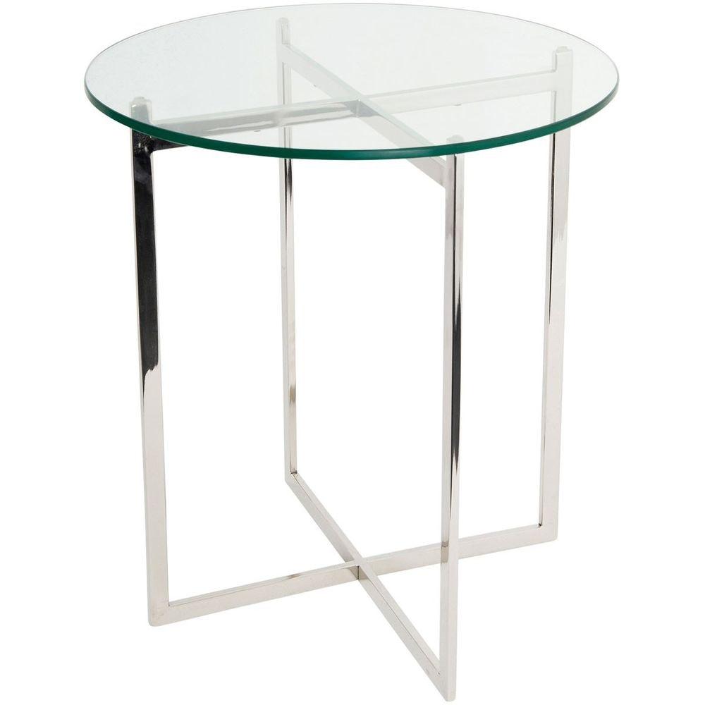 Tisch Favorito Edelstahl-Glas Silber-Klar 3
