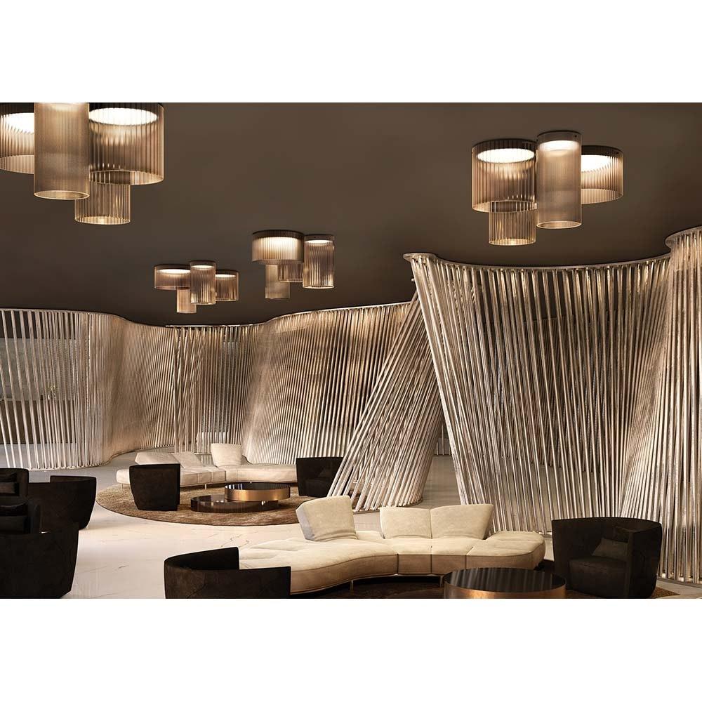 Kundalini LED Deckenleuchte Giass Ø 25cm Dimmbar » Farbe Weiß
