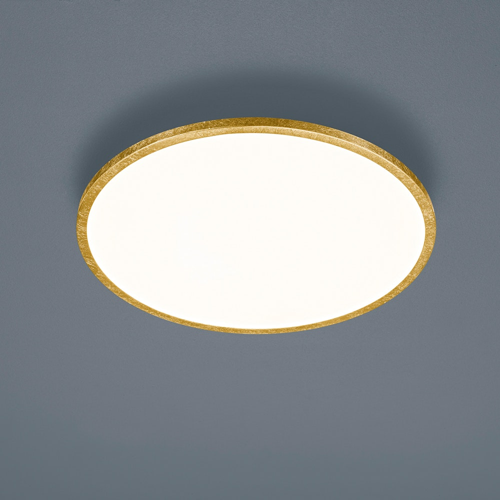 Helestra LED Deckenlampe Rack Blattgold