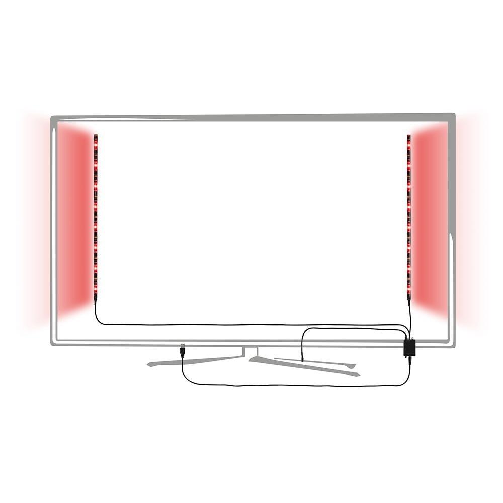 LED-Strip 2,5W RGB mit USB-Anschluss und Farbwechsel 2x50cm 2