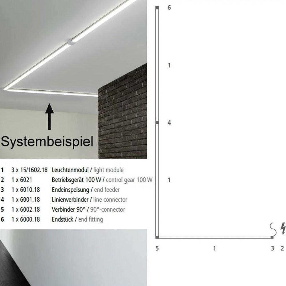 VIGO System LED-Linienmodul 100cm Alu-matt 15