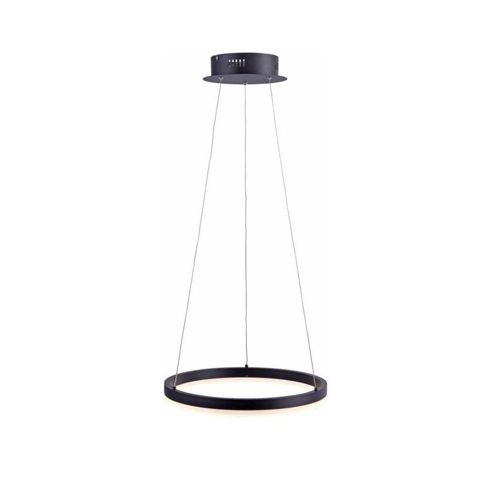 Ring S LED-Hängeleuchte dimmbar über Schalter Ø 40cm Anthrazit 2