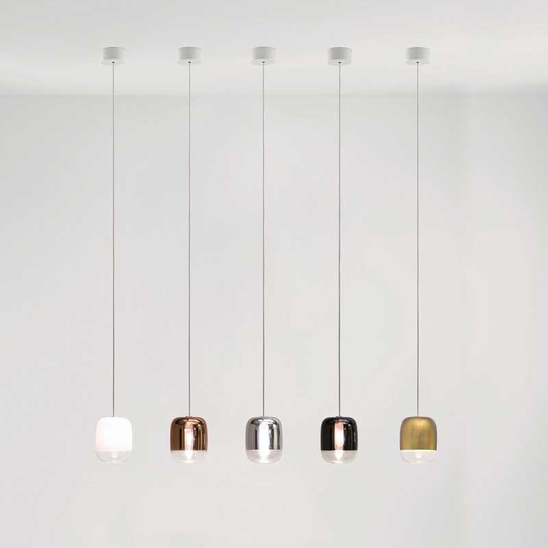 Prandina Galerie Hängeleuchte Gong Mini 5-flammig Silberfarben 2