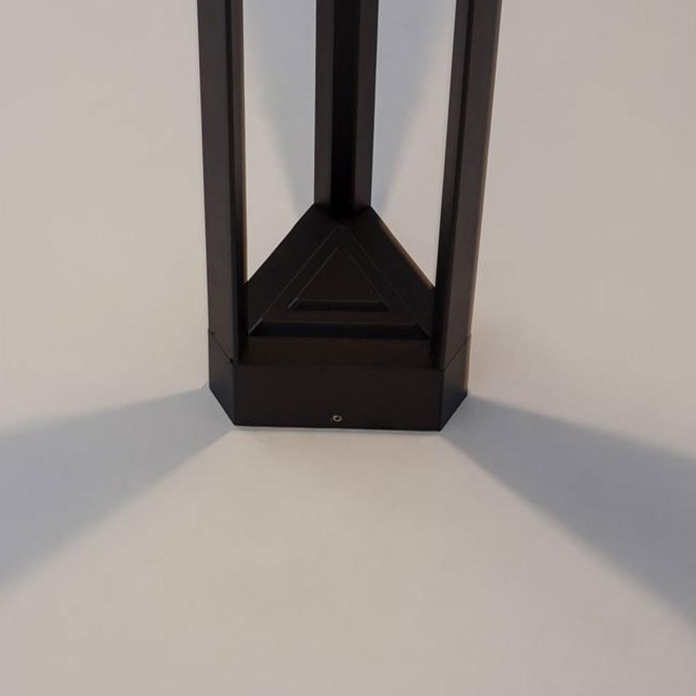 Nova Luce Pax Pollerleuchte Dreieck LED Schwarz 2