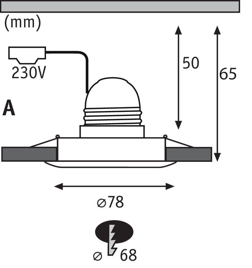 Einbaustrahler Nova starr mit E27 Fassung 10