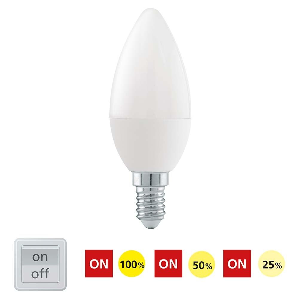 E14 LED Kerze Dimmbar per Schalter Warmweiß 470lm , 6W 2