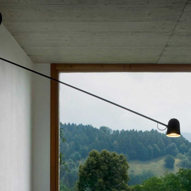 Luceplan LED Wandstrahler Counterbalance mit Gegengewicht 190cm 7