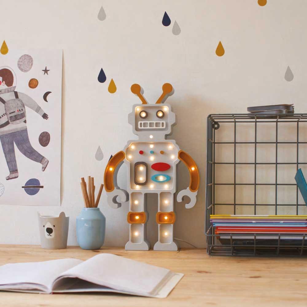 Little Lights Kinder Wand- & Tischleuchte Roboter  3