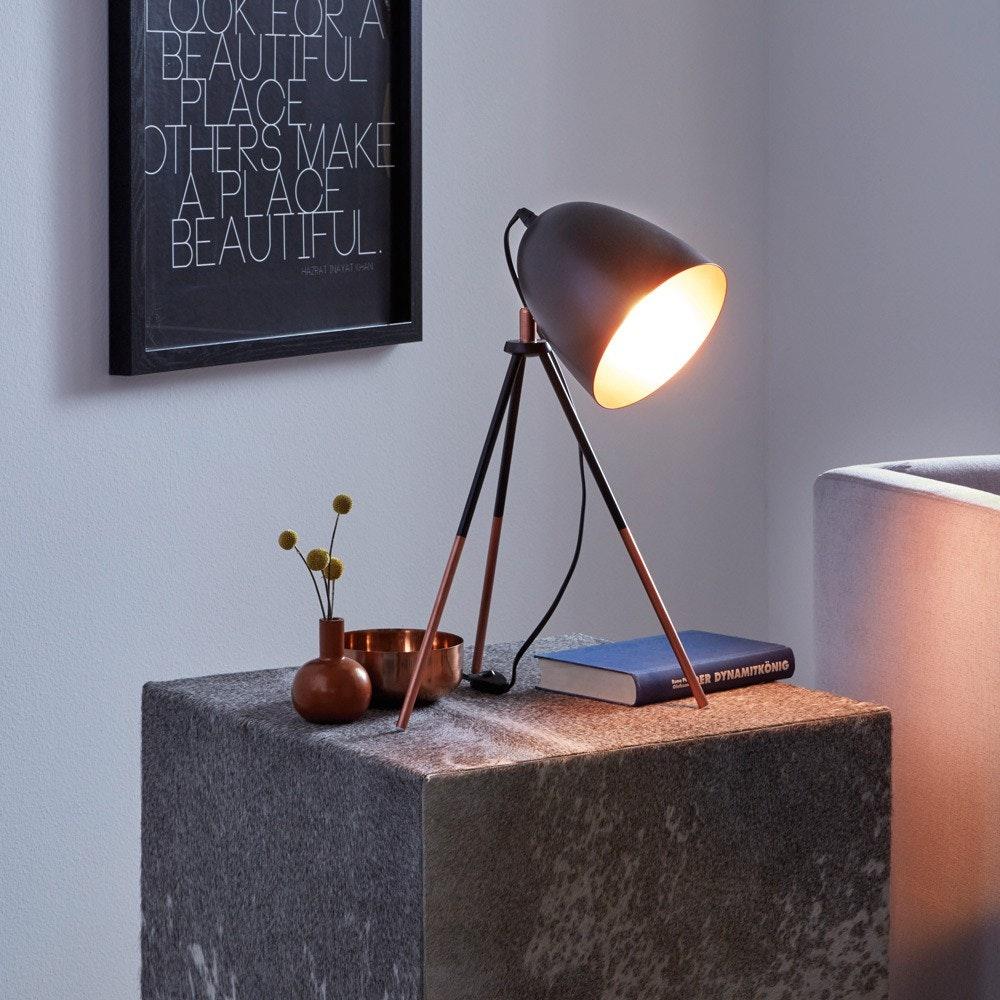 Stake Tischleuchte mit Wow-Effekt Schwarz & Kupfer 1