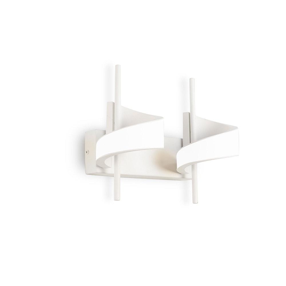 Mantra Doppel-LED-Wandleuchte Tsunami Weiß 1
