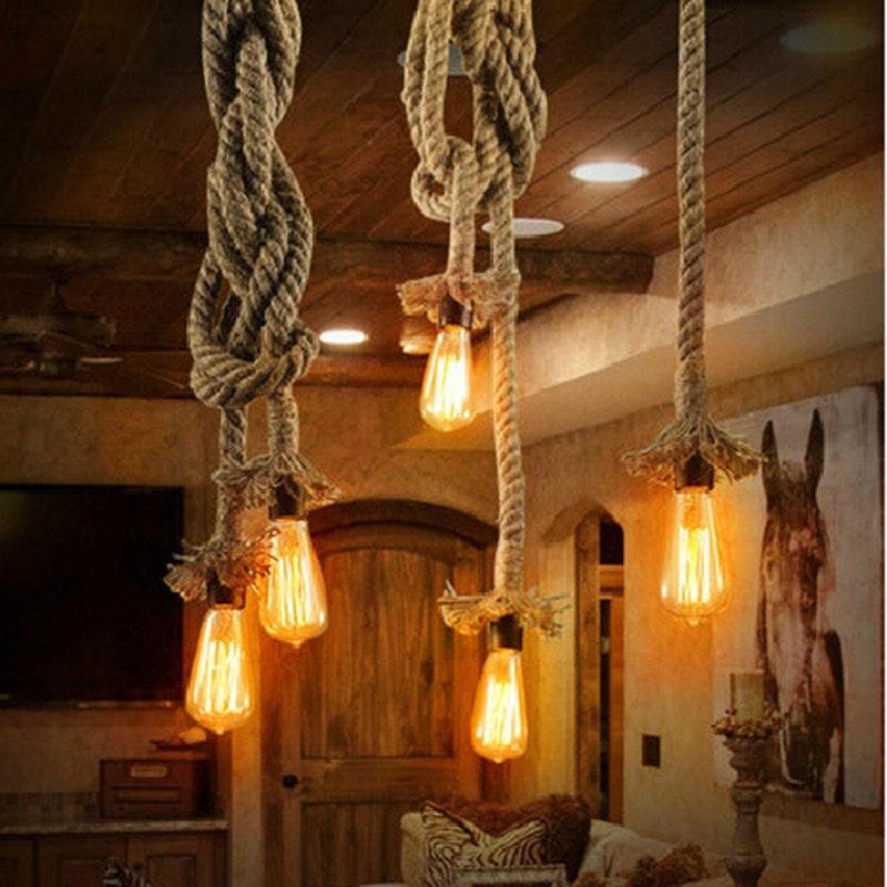 s.LUCE Rope Seil-Hängeleuchte mit 2 Fassung 250cm Braun 10