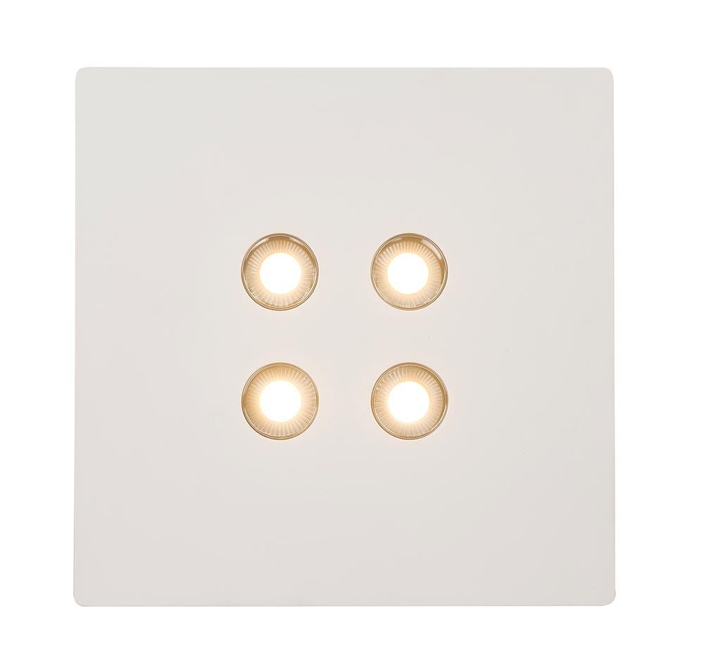 Licht-Trend LED Gips Deckenlampe Tucum 25x25cm Weiß 3
