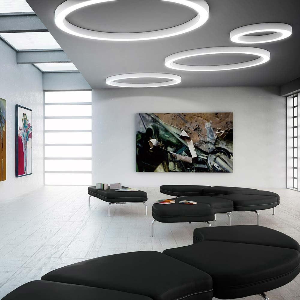Panzeri Silver Ring LED-Deckenlampe dimmbar 5