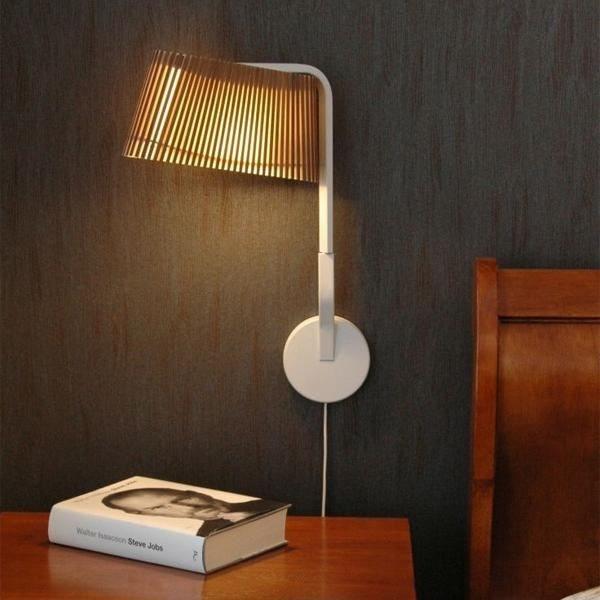 LED Wandleuchte Owalo 7030 aus Holz 47cm 1