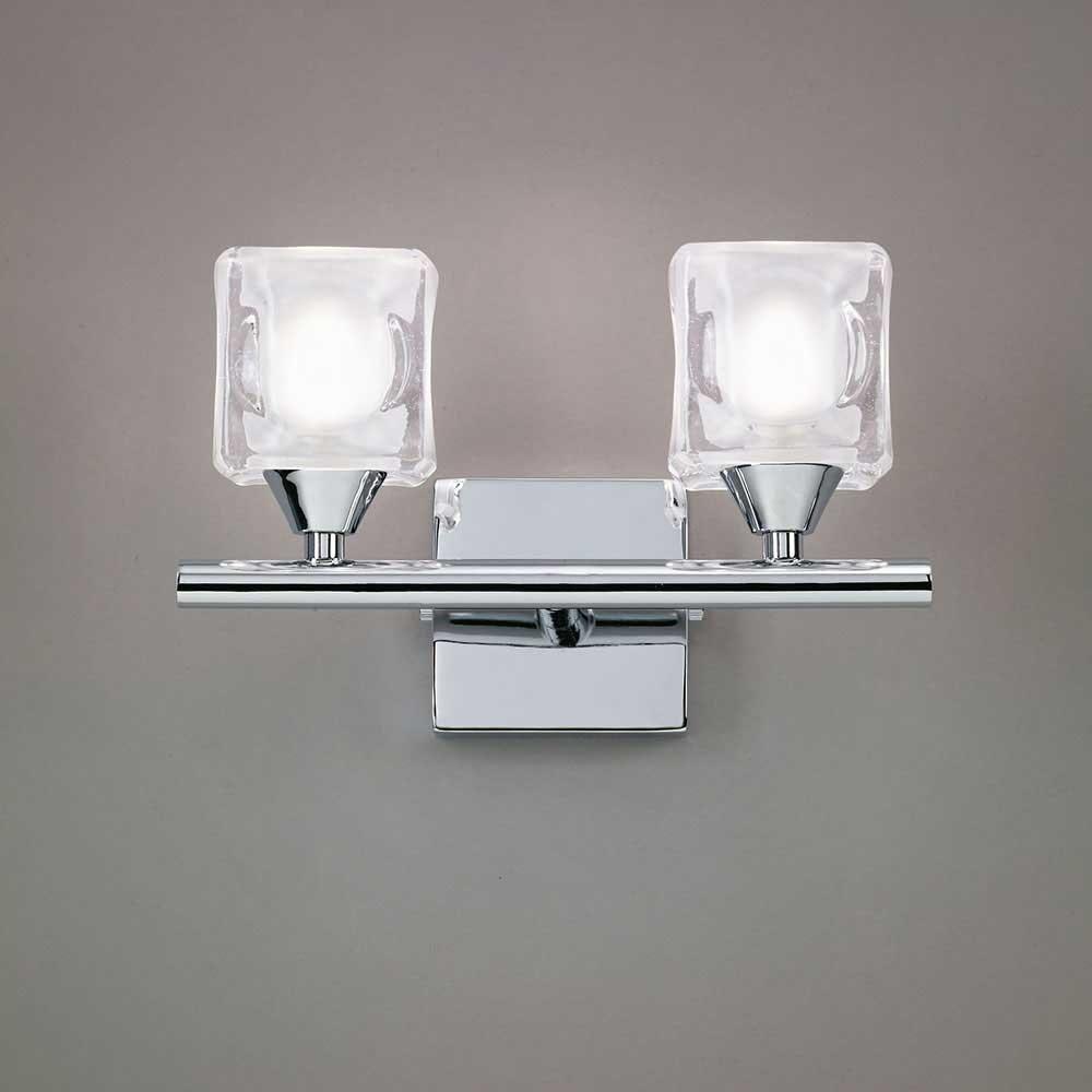 Mantra Doppel-Wandlampe Cuadrax Cristal 1