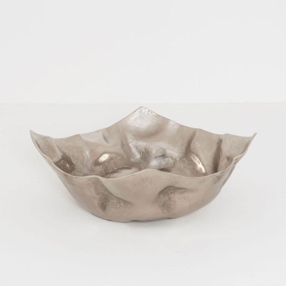 Dekoschale Rustica Gross Aluminium Silber 2