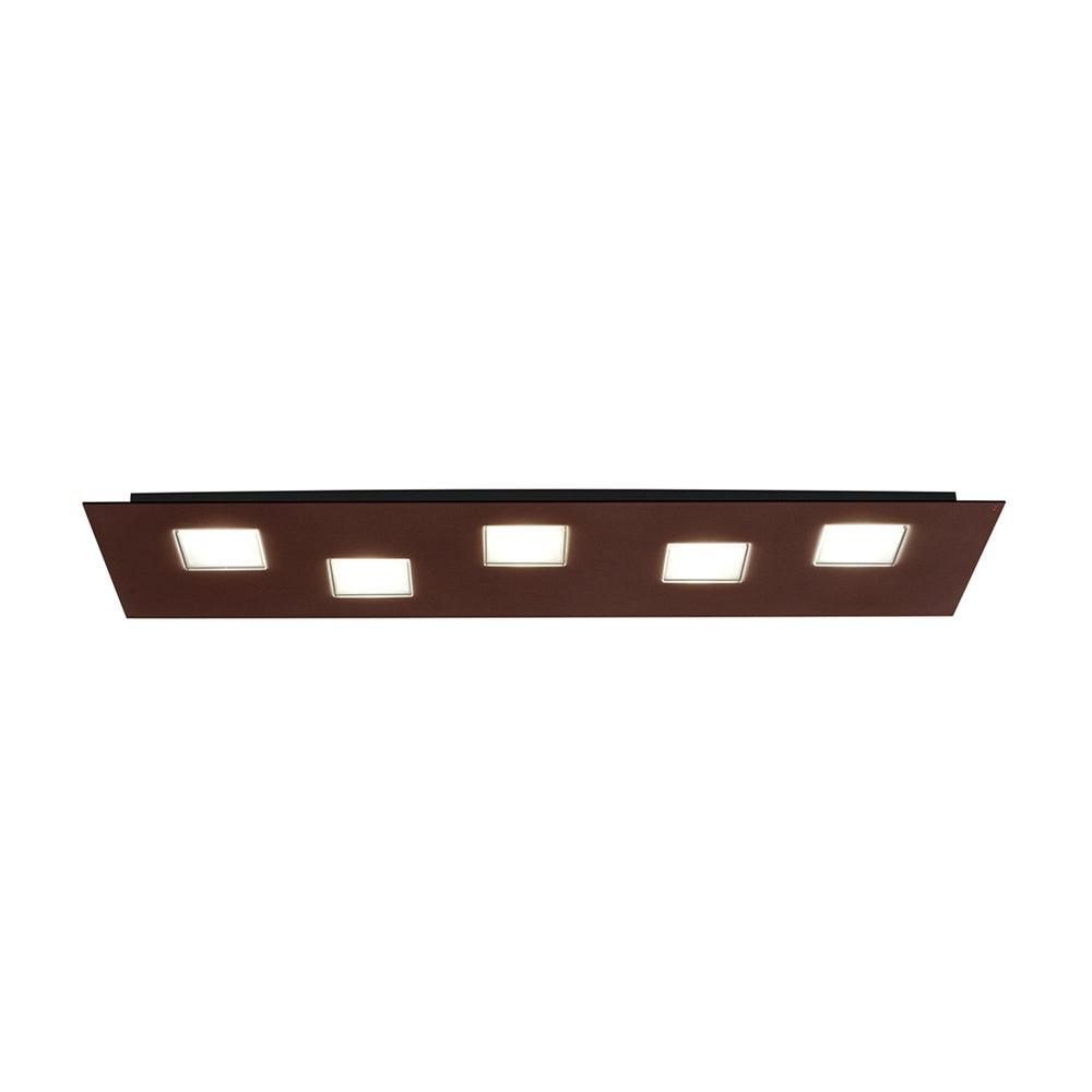 Fabbian Quarter LED-Deckenleuchte rechteckig 5-flammig 6