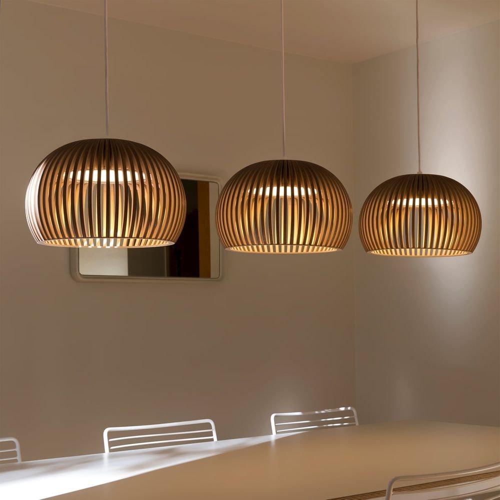 LED Pendelleuchte Atto 5000 aus Holz Ø 34cm 9