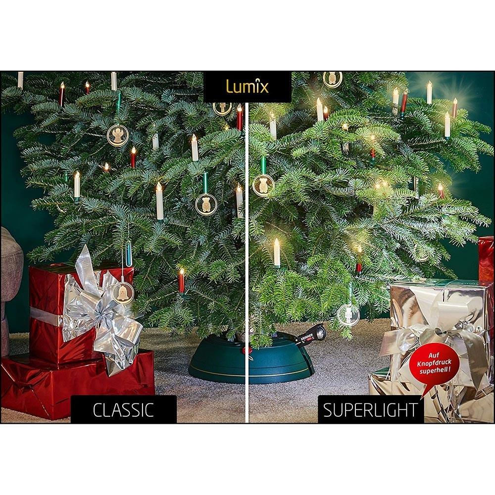Krinner LED Christbaumkerzen Lumix Superlight Mini Rot Erweiterung 4