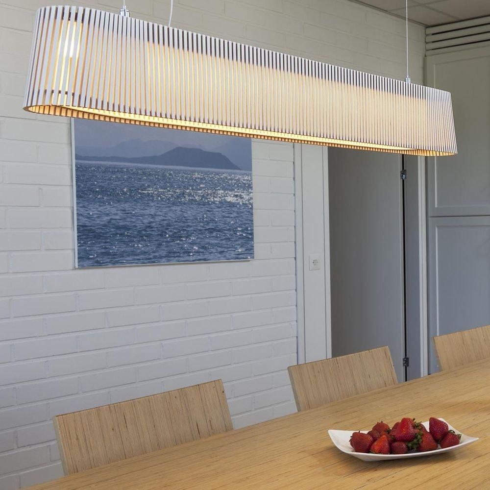 LED Pendelleuchte Owalo 7000 aus Holz 100cm 7
