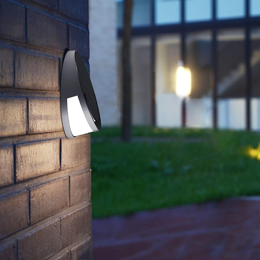 LED Außenwandleuchte Sandwy IP54 Anthrazit 1