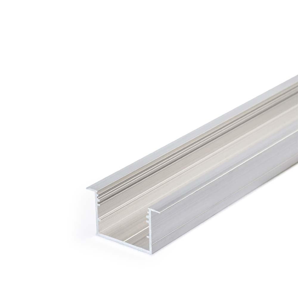 XXL Einbauprofil 200cm Alu-roh ohne Abdeckung für LED-Strips 1
