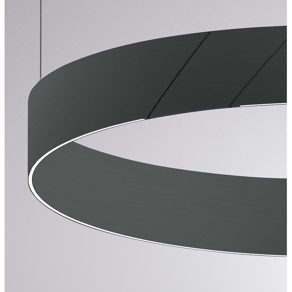 Molto Luce After 8 Round LED Ring Pendelleuchte Ø 60cm Grau Dali dimmbar 3