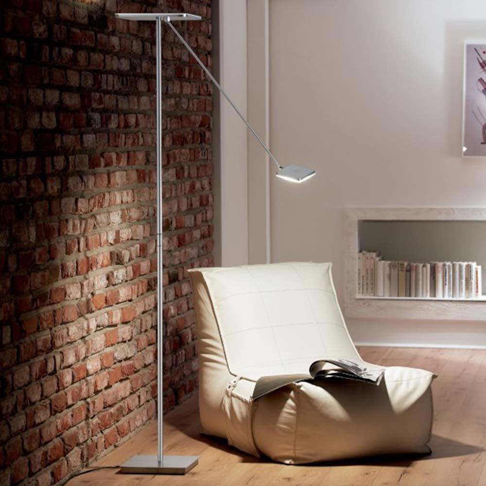 LED-Deckenfluter Plano VL185cm mit 2 Tastdimmer 4300lm Schwarz