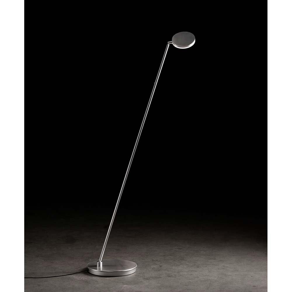 Holtkötter LED-Stehleuchte PLANO S Platin mit Tastdimmer 2200lm 2700K 1