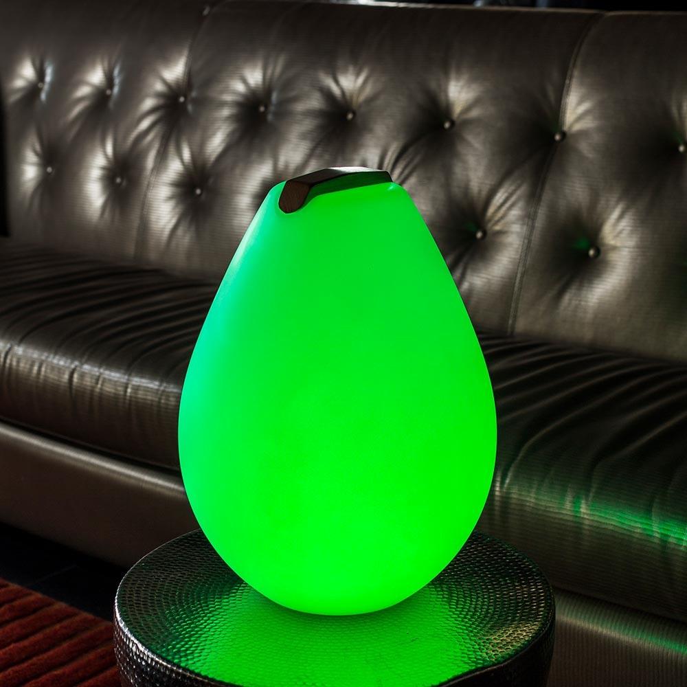 Akku LED-Dekolampe Vessel S mit Holzgriff & App-Steuerung 5