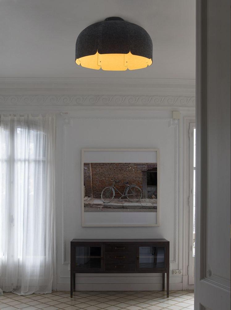 LED Büro-Hängeleuchte Mute Ø 80cm Schallabsorbierend 1
