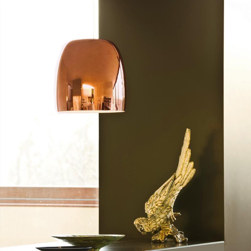 Prandina Glas Hängelampe Notte S5 Kupfer