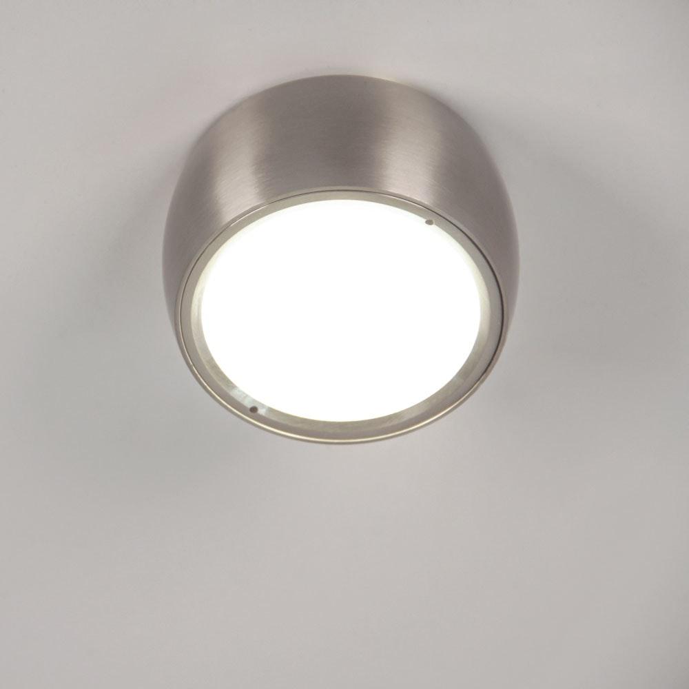 s.LUCE Beam LED Deckenleuchte mit Glaslinse Ø 8cm Alu-Gebürstet 2