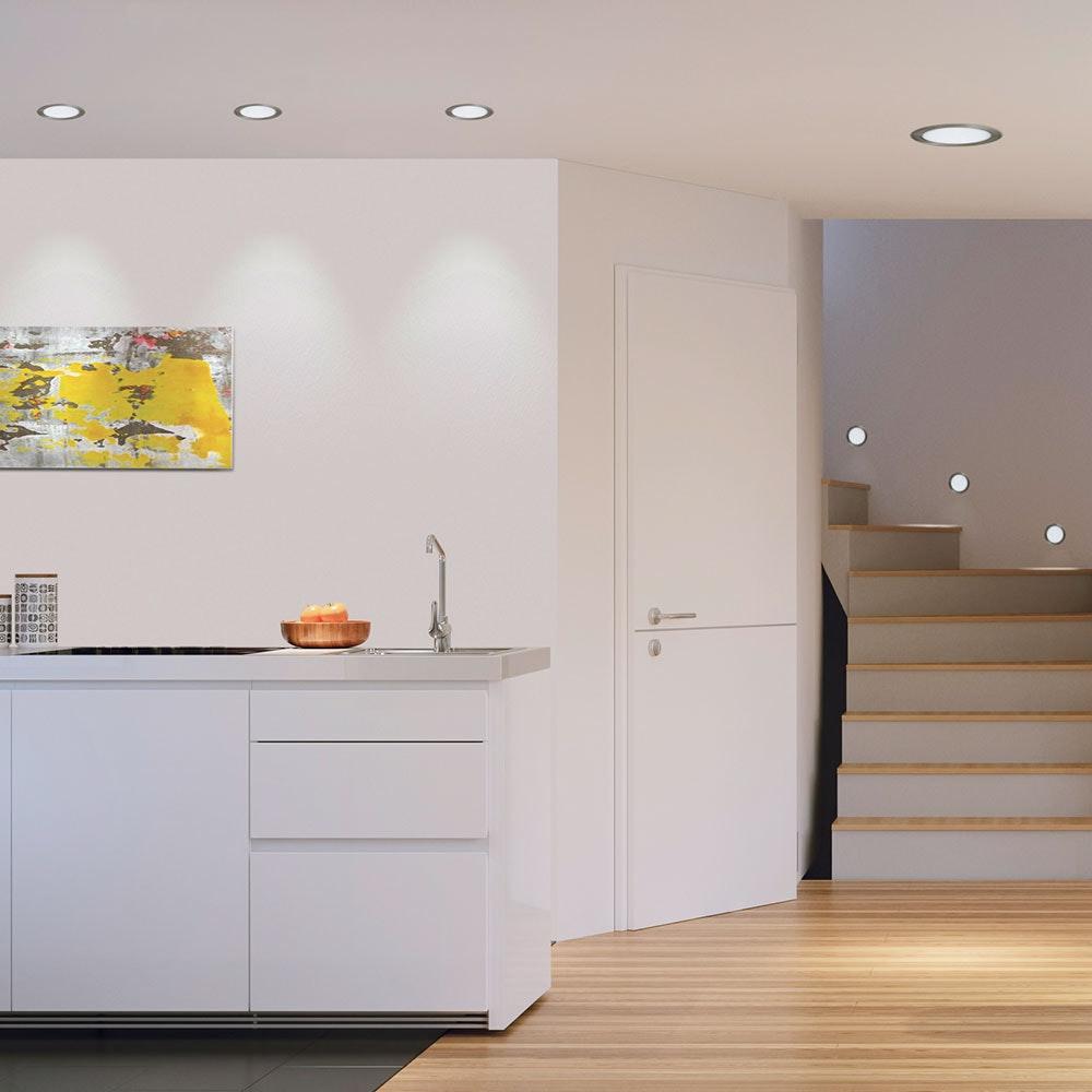 LED-Panel Einbau 300 Lumen Ø 8,5cm IP44 rund 5