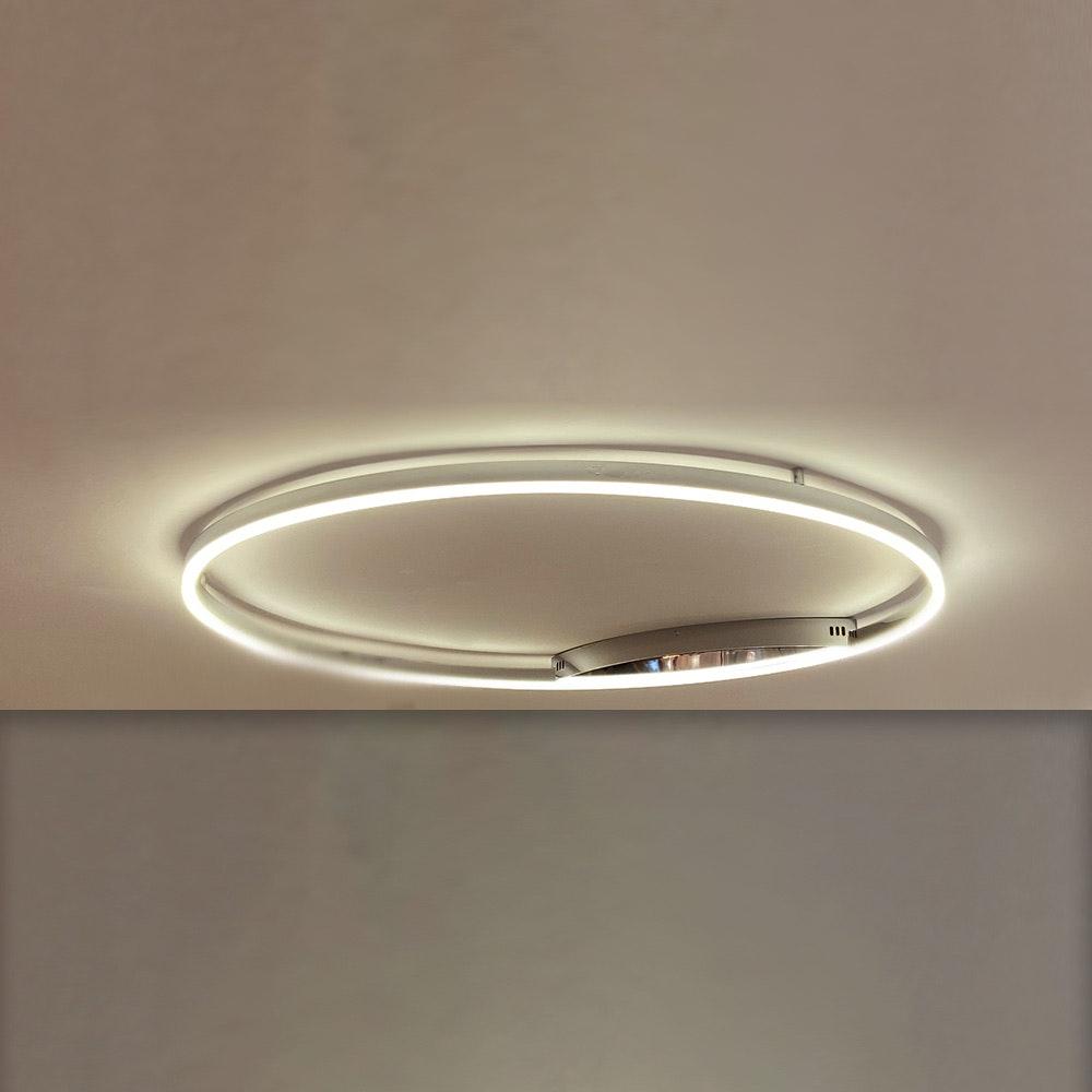 s.LUCE LED Ring 100 Wand & Decke Dimmbar Chrom 4
