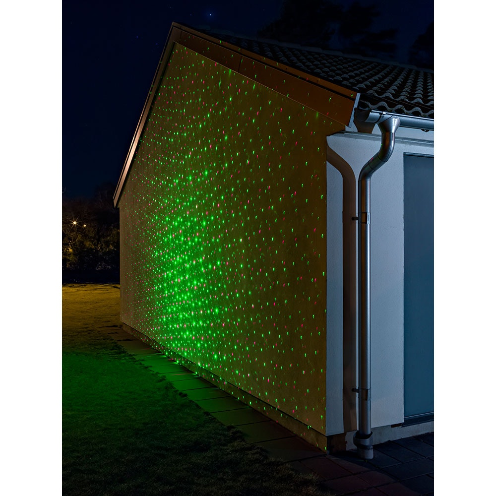 LED Laser mit bewegten & funkelnden Punkten Fernbedienung Bewegungssensor Timer IP44 2