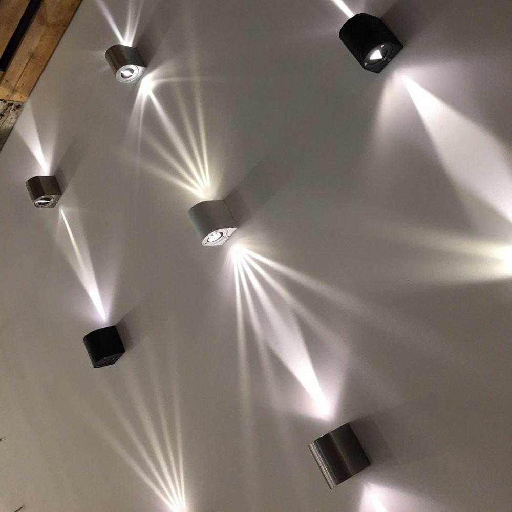 Baleno LED-Wandleuchte IP44 mit Lichtfilter Schwarz thumbnail 6