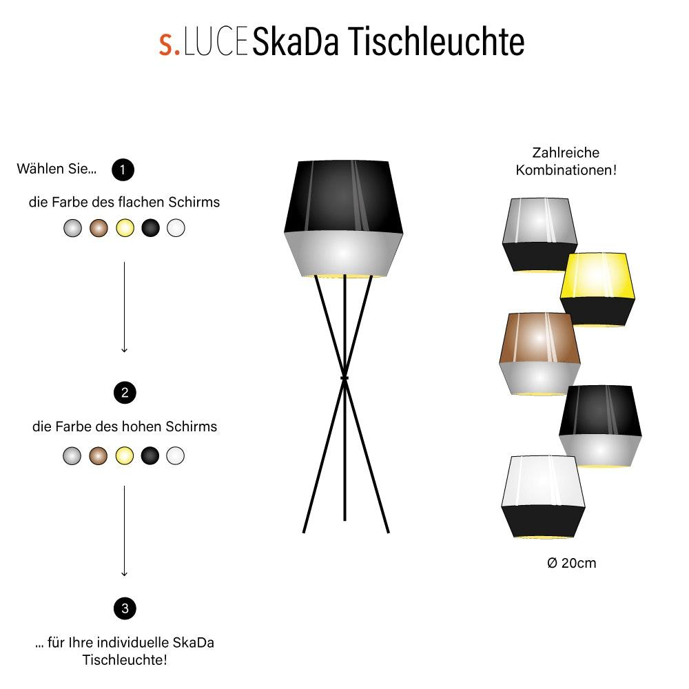 s.LUCE SkaDa individuelle Tischleuchte Ø 20cm 22