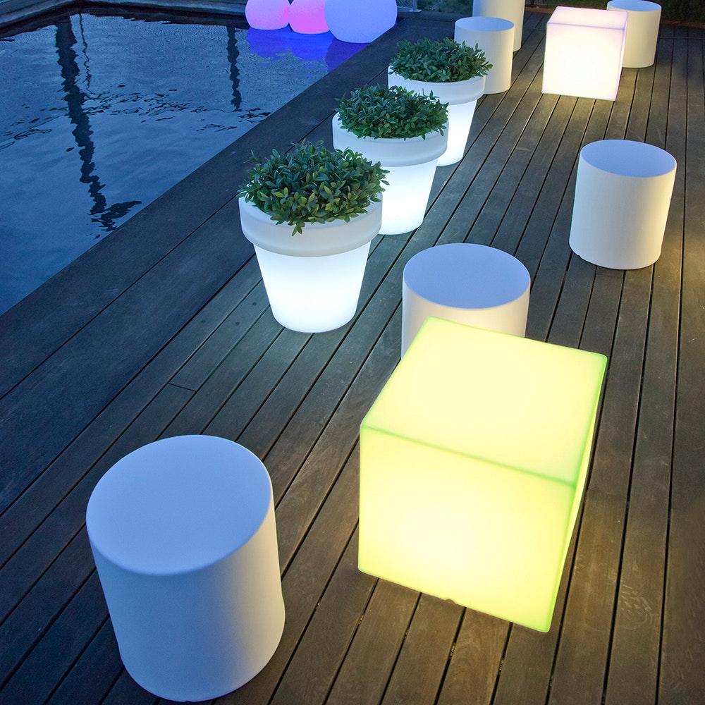 Licht-Trend Cuby LED-Dekoleuchte mit Akku und Solar 5