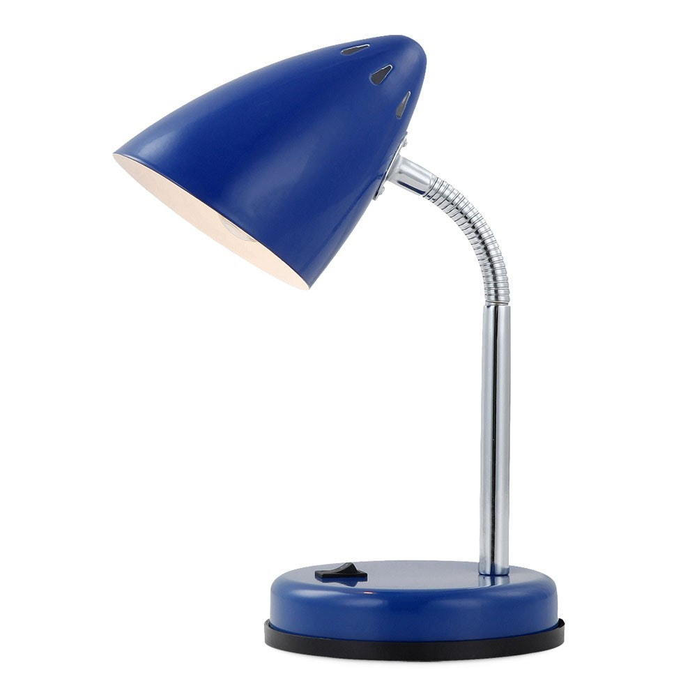 Mono Tischleuchte Metall blau E14