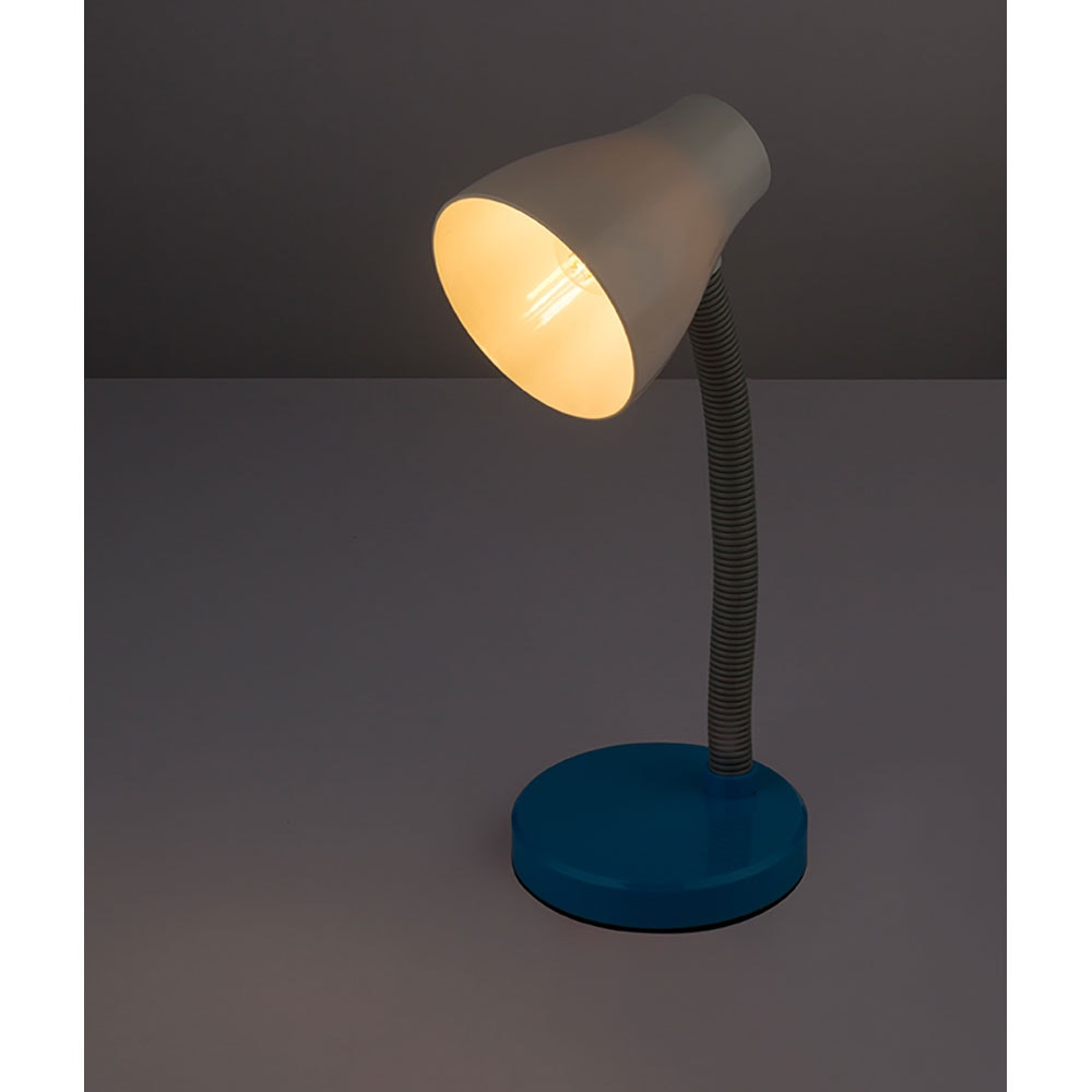 LED Tischleuchte Flynn Flexo Blau, Weiß 1