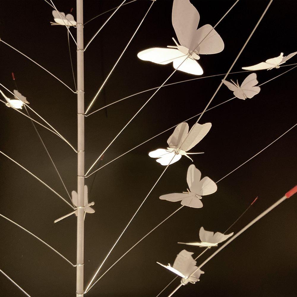 Ingo Maurer LED Pendellampe La Festa delle Farfalle weiss thumbnail 3
