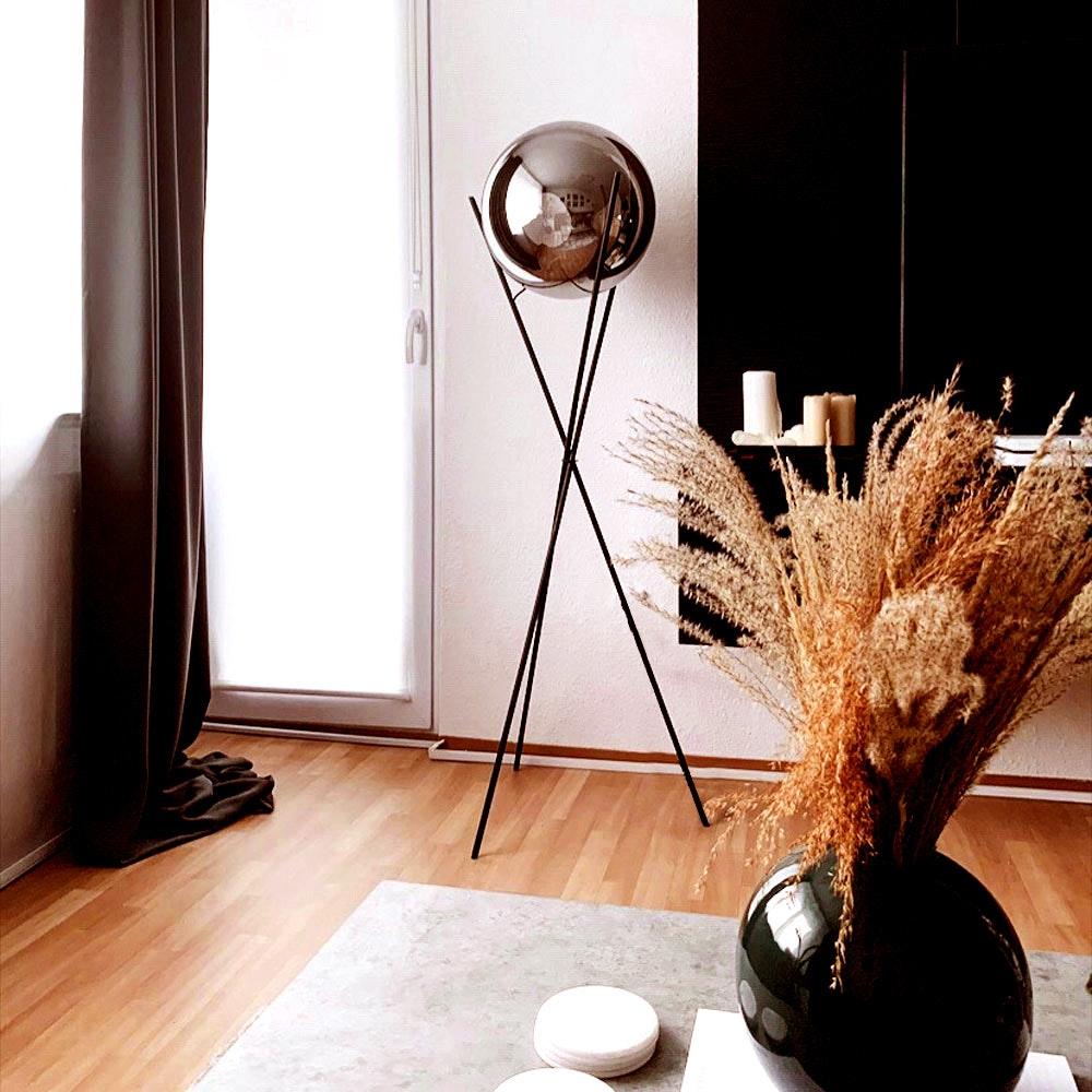 s.LUCE pro Stehleuchte Sphere 40 mit rauchiger Glaskugel thumbnail 3